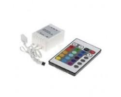 Controlador para tira LED RGB 72W con mando