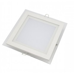 Downlight panel LED Cuadrado 100x100mm Cristal 7W