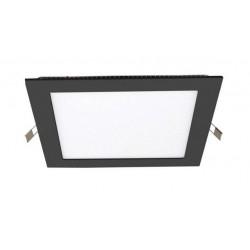 Downlight panel LED Cuadrado 170x170mm Negro 12W