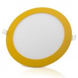 Downlight panel LED Redondo 225mm Amarillo 18W Blanco Frío