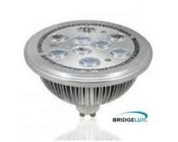 Lámpara LED AR111 GU10 9W Banco Cálido 60º Bridgelux