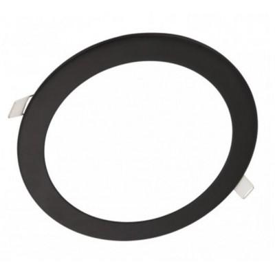Downlight panel LED Redondo 225mm Negro 18W
