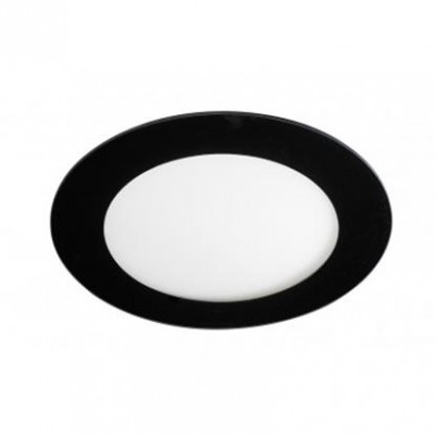 Downlight panel LED Redondo Negro 170mm 12W