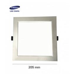 Downlight panel LED Cuadrado 205x205mm Gris 25W SAMSUNG