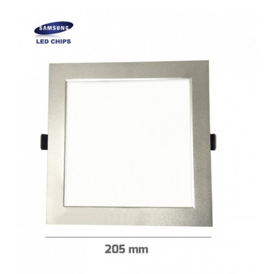 Downlight panel LED Cuadrado 205x205mm Gris 25W SAMSUNG