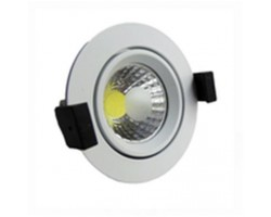 Foco Downlight LED COB Orientable Redondo Blanco Ø95mm 8w
