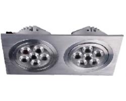 Foco doble Downlight Square empotrar LED 2x18W Blanco Frío