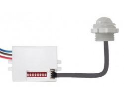 Detector de Movimiento IR y crepuscular empotrar 120g IP65 Mini