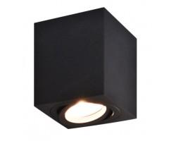 Foco superficie cuadrado 80*80*95mm orientable Negro para Lámpara GU10/MR16