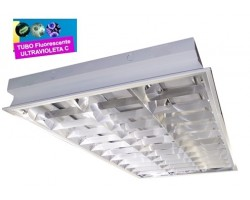 Luminaria Empotrar 1197x597mm 4x36W UV desinfectante