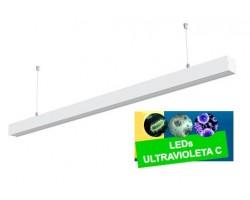 Luminaria Suspensión perfil 1437mm 40W UV desinfectante