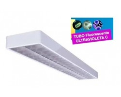 Luminaria Superficie 1230x260mm 2x36W UV desinfectante
