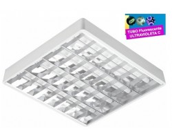 Luminaria Superficie 635x575mm 4x15W UV desinfectante
