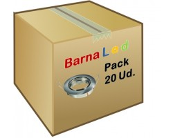Foco basculante empotrar Plata Mate, para Lámpara GU10/MR16, Caja 20ud a 2,20€/ud
