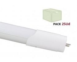 Tubo LED T8 600mm Aluminio 10W Conexión Un Lateral, Caja de 25 ud x 4,20€