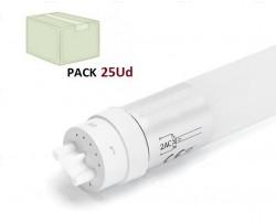 Tubo LED T8 600mm Cristal 8W, conexión 1 lado, Caja de 25 ud x 1,90€/ud