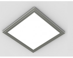 Panel LED 300X300mm 18W Marco Gris
