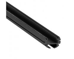 Perfil Redondo aluminio anodizado Negro 19mm para tiras LED, barra 2 Metros