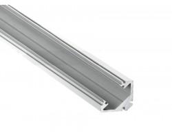 Perfil Angulo aluminio anodizado 45º 22x22mm para tiras LED, barra 2 Metros