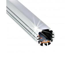 Perfil Redondo aluminio anodizado INOX 39mm para tiras LED, barra 2 Metros