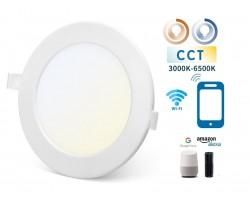 Downlight LED Redondo 170mm Blanco 12W SMART CCT WIFI, para Smartphone y control voz