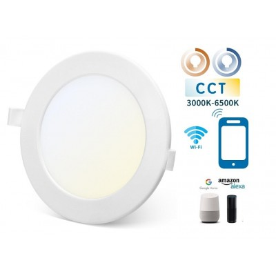 Downlight LED Redondo 170mm Blanco 12W SMART CCT WIFI, para Smartphone y control voz