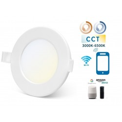 Downlight LED Redondo 115mm Blanco 6W SMART CCT WIFI, para Smartphone y control voz
