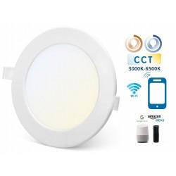 Downlight LED Redondo 220mm Blanco 18W SMART CCT WIFI, para Smartphone y control voz
