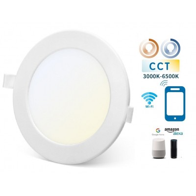 Downlight LED Redondo 220mm Blanco 18W SMART CCT WIFI, para Smartphone y control voz