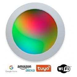 Downlight panel LED Redondo 225mm Blanco 18W SMART WIFI, para Smartphone y control voz