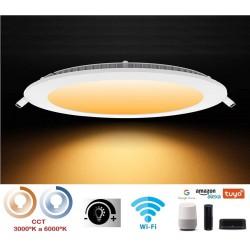 Downlight LED Redondo extraplano 240mm Blanco 20W SMART Wifi Regulable en luz y tonalidad