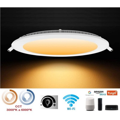Downlight LED Redondo extraplano 240mm Blanco 20W SMART Wifi Regulable en luz y tonalidad