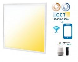 Panel LED Backlight 600X600mm 32W Marco Blanco SMART CCT Wifi, para Smartphone y control voz