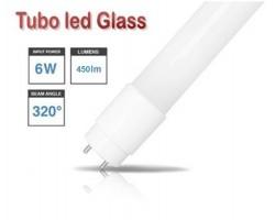 Tubo LED T8 438mm Cristal 6W Blanco Frío, conexión 1 lado