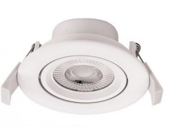 Foco Downlight LED COB Orientable Redondo Blanco Ø90mm 5w