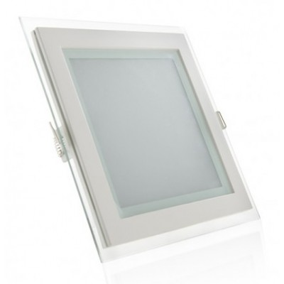 Downlight panel LED Cuadrado 200x200mm Cristal 15W