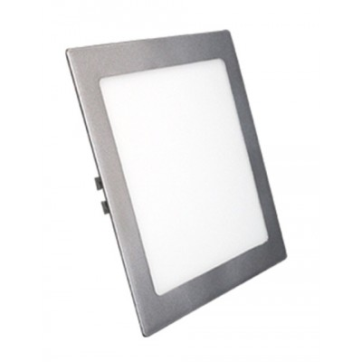 Downlight panel LED Cuadrado 300x300mm Gris Plata 25W