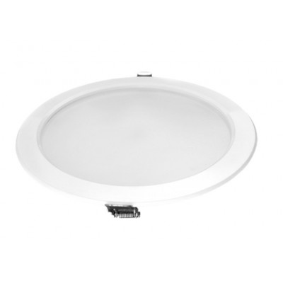 Downlight panel LED Redondo 235mm Niquel Satinado 25W