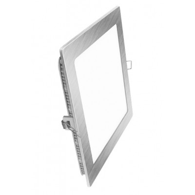 Downlight panel LED Cuadrado 225x225mm Cromado 18W