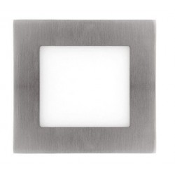 Downlight panel LED Cuadrado 92x92mm Niquel 4W