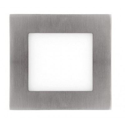 Downlight panel LED Cuadrado 120x120mm Niquel 6W