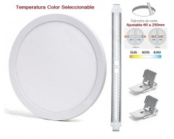 Downlight panel LED Redondo 290mm CCT 24W, Corte ajustable 60 a 250mm