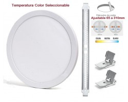 Downlight panel LED Redondo 330mm CCT 30W, Corte ajustable 65 a 310mm