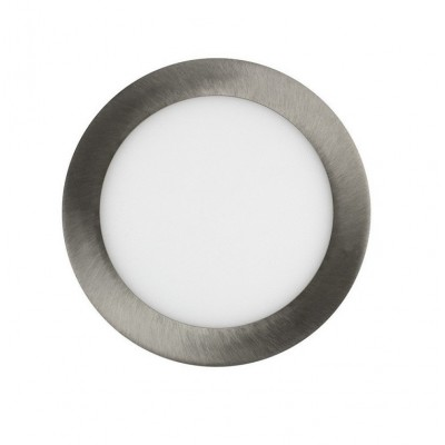 Downlight panel LED Redondo 200mm Niquel 15W