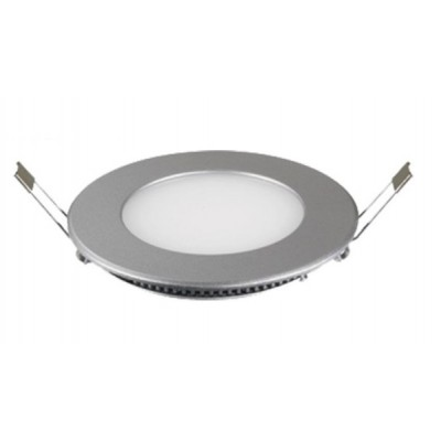 Downlight panel LED Redondo 120mm Gris Palta 6W