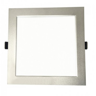Downlight panel LED Cuadrado 205x205mm Niquel santinado 25W
