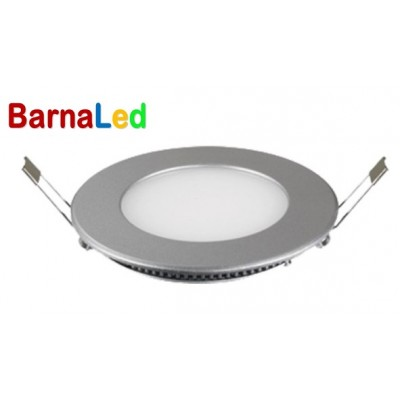 Downlight panel LED Redondo 90mm Gris Plata 3W