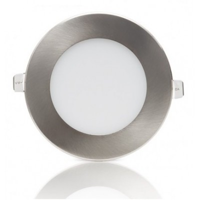 Downlight panel LED Redondo 170mm Niquel 12W