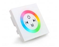 Controlador Táctil para tira LED Blanco para empotrar en cajetín universal