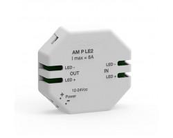 Amplificador de Regulador de pastilla para tira LED Monocolor 12V-24V dc 8A